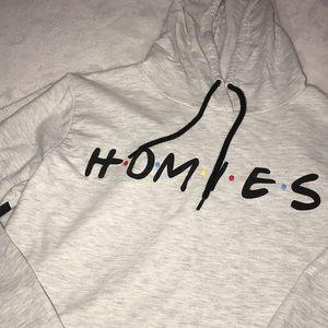 """On fire """"friends"""" hoodie"""